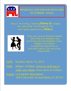 RCOBA SOCIAL—MARCH 12th. RSVP pajjizi1776@reagan.com